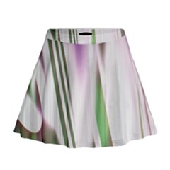 Colored Pattern Mini Flare Skirt