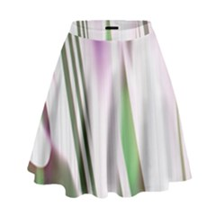 Colored Pattern High Waist Skirt