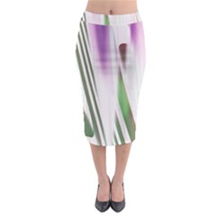 Colored Pattern Midi Pencil Skirt