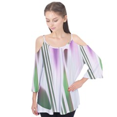 Colored Pattern Flutter Tees