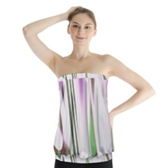 Colored Pattern Strapless Top