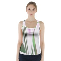 Colored Pattern Racer Back Sports Top