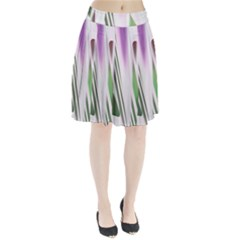 Colored Pattern Pleated Skirt