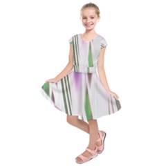 Colored Pattern Kids  Short Sleeve Dress