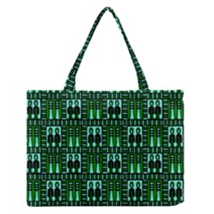 Egyptianpattern Colour Green Medium Zipper Tote Bag