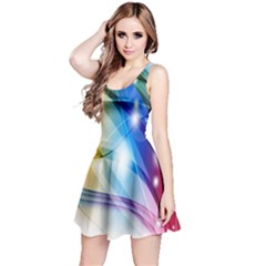 Colour Abstract Reversible Sleeveless Dress