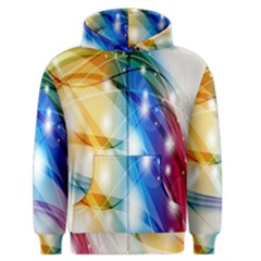 Colour Abstract Men s Zipper Hoodie