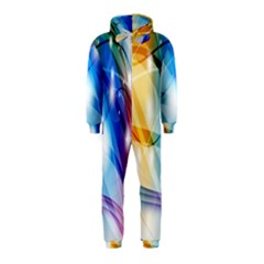 Colour Abstract Hooded Jumpsuit (Kids)