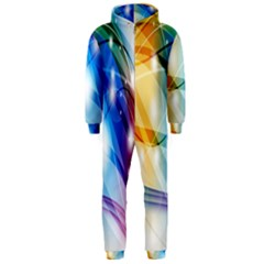Colour Abstract Hooded Jumpsuit (Men)