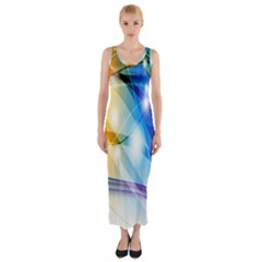 Colour Abstract Fitted Maxi Dress