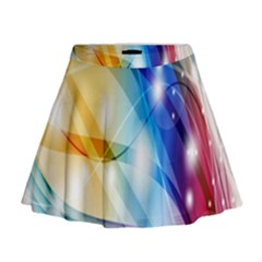 Colour Abstract Mini Flare Skirt