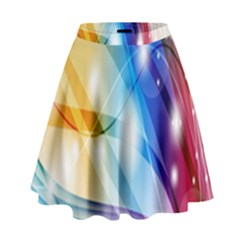 Colour Abstract High Waist Skirt