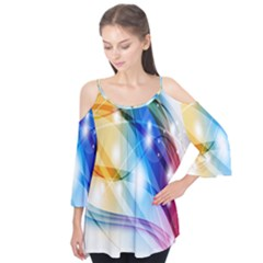 Colour Abstract Flutter Tees