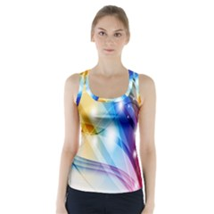 Colour Abstract Racer Back Sports Top