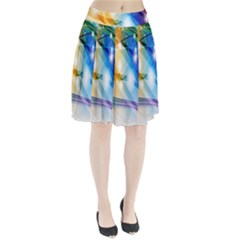 Colour Abstract Pleated Skirt