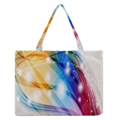 Colour Abstract Medium Zipper Tote Bag