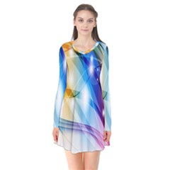Colour Abstract Flare Dress