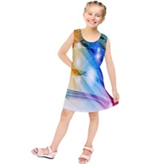 Colour Abstract Kids  Tunic Dress