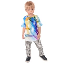 Colour Abstract Kids  Raglan Tee