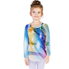 Colour Abstract Kids  Long Sleeve Tee