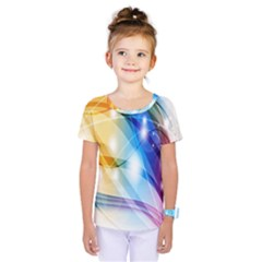 Colour Abstract Kids  One Piece Tee