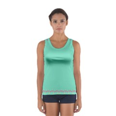 Flamingo Border Women s Sport Tank Top