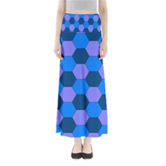 Four Colour Theorem Blue Grey Maxi Skirts