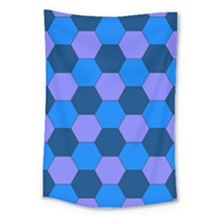 Four Colour Theorem Blue Grey Large Tapestry