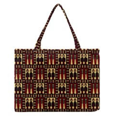 Egyptianpattern Colour Red Medium Zipper Tote Bag