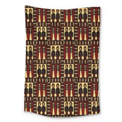 Egyptianpattern Colour Red Large Tapestry