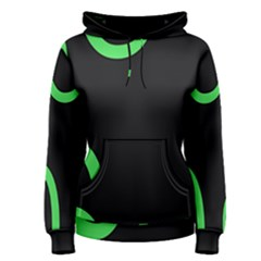 Green Rings Black Women s Pullover Hoodie