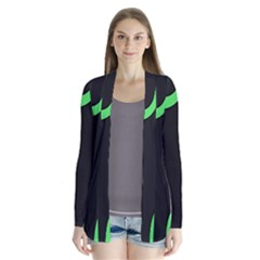 Green Rings Black Cardigans