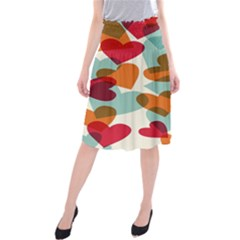 Heart Midi Beach Skirt