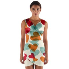 Heart Wrap Front Bodycon Dress