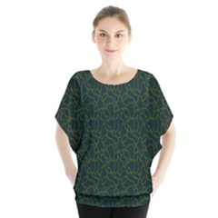 Grid Background Green Blouse