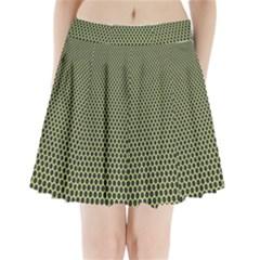 Hexagon Green Pleated Mini Skirt