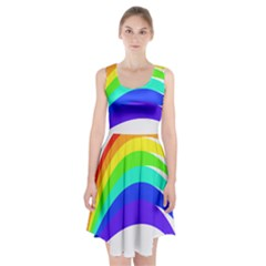 Rainbow Racerback Midi Dress