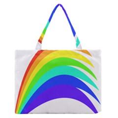 Rainbow Medium Zipper Tote Bag