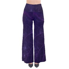 Purple Abstract Spiral Pants