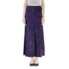 Purple Abstract Spiral Maxi Skirts