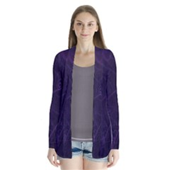 Purple Abstract Spiral Cardigans