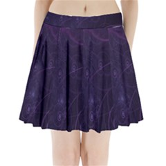 Purple Abstract Spiral Pleated Mini Skirt