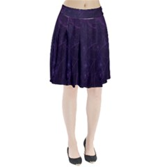 Purple Abstract Spiral Pleated Skirt