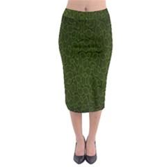 Leaves Dark Midi Pencil Skirt