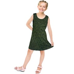 Leaves Dark Kids  Tunic Dress