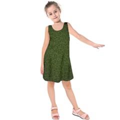 Leaves Dark Kids  Sleeveless Dress