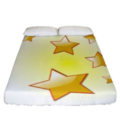 Star Gold Fitted Sheet (queen Size)