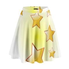 Star Gold High Waist Skirt