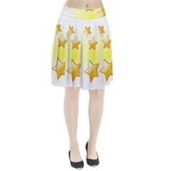 Star Gold Pleated Skirt