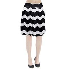 Wave Black Pleated Skirt